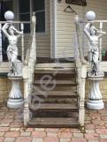 Скульптура из бетона девушка Светильник