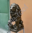 Скульптура из бетона Лев Бронза +30% к цене