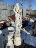 """Скульптура из бетона """"Гречанка""""+Подиум С-128"""