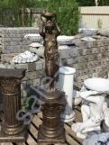 """Скульптура бетонная """"Девушка подиум"""" Бронза + Подиум С 125"""