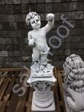 """Подиум из бетона С 125/скульптура """"Амур светильник"""""""