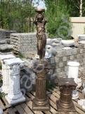 """Скульптура бетонная """"Девушка подиум"""" Бронза + Подиум С 126"""