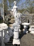 """Скульптура из бетона """"Девушка с вазой""""/Подиум С-126"""
