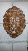 Фонтан из бетона Маска Льва Золото (Стоимость :+20% к цене)
